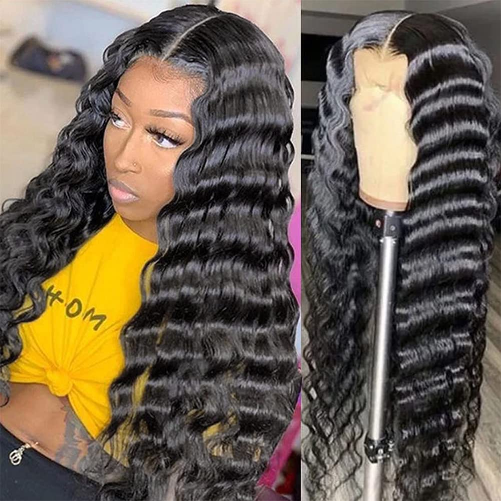 24 26 Inch Loose Deep Wave Wig 13x4 Lace Front Human Hair Wigs For Women Deep Wave 4x4 Closure Lace Frontal Wig Lace Wig Remy