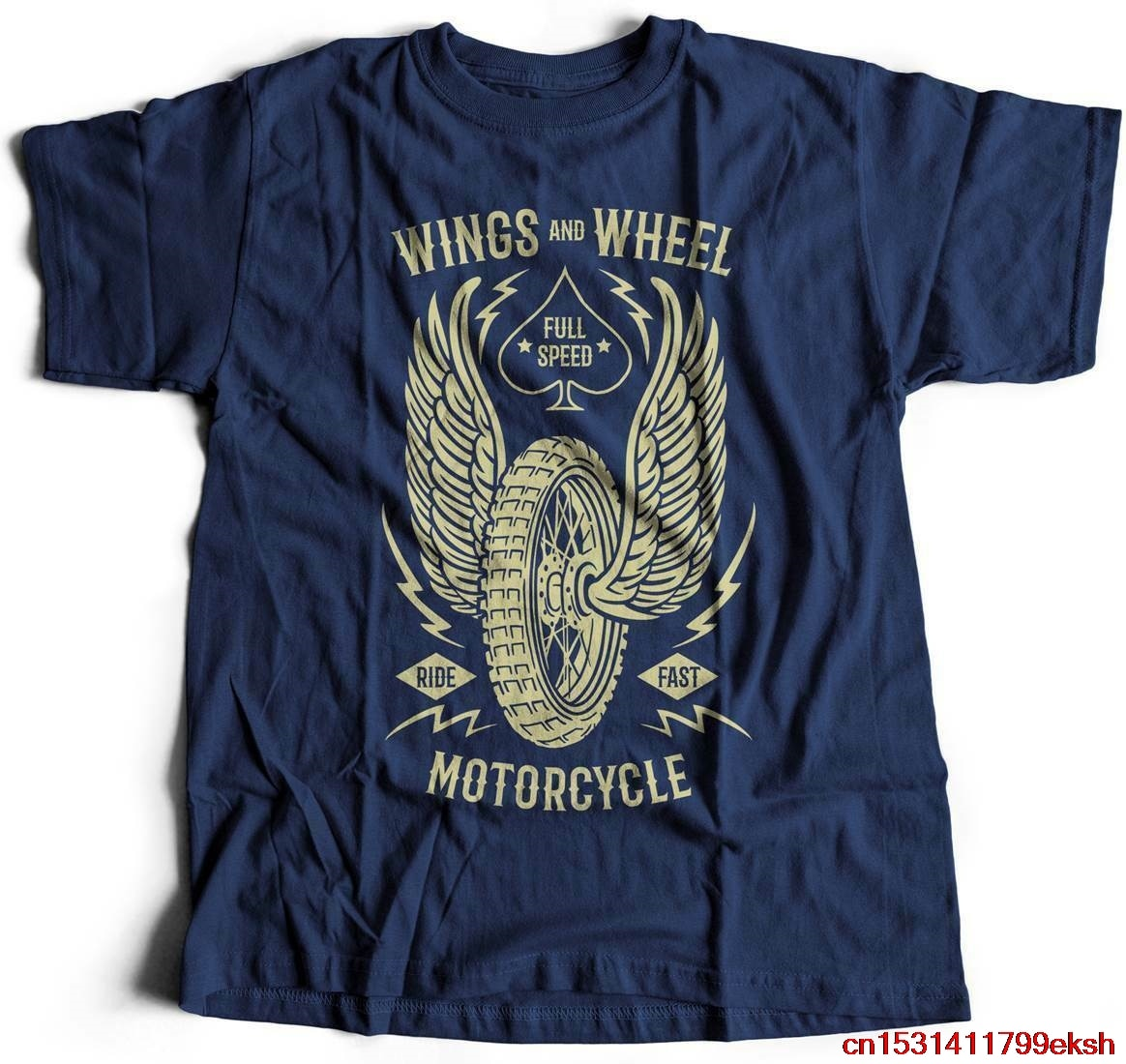 Las alas y motocicletas de rueda camiseta de velocidad completa Cafe Racer ACEITE DE B272