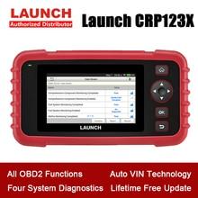 Сканер LAUNCH CRP123X OBD2 для проверки двигателя ABS SRS, считыватель кодов передачи, на базе Android, Wi Fi, один клик, инструмент для диагностики автомобиля