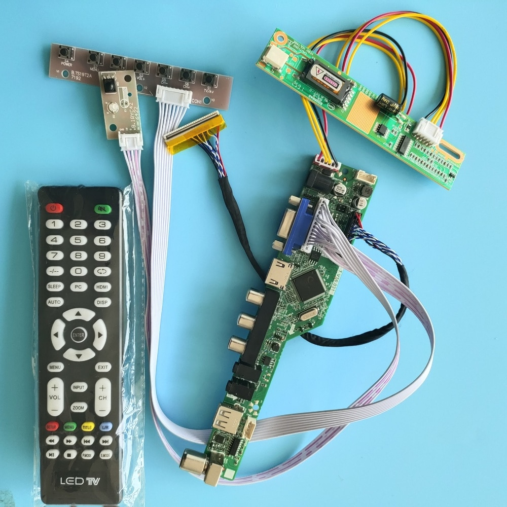 عدة التحكم في الصوت CLAA154WB03A 1280x800 LED LVDS لوحة تحكم AV USB عن بعد HDMI شاشة عرض لوحة التلفزيون VGA شاشة LCD 15.4