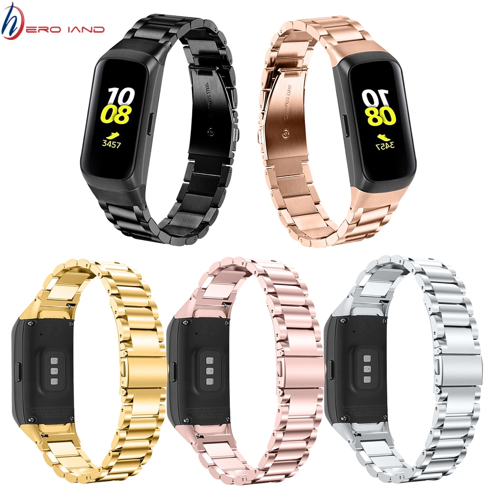 Edelstahl Armband Uhr Band Für Samsung galaxy fit SM-R370 smart Armband Armband Hohe Qualität Metall Armband Correa