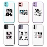 jamular toilet bound hanako kun phone case purple matte transparent for iphone 7 8 x xs xr 11 12 pro plus max mini clear funda