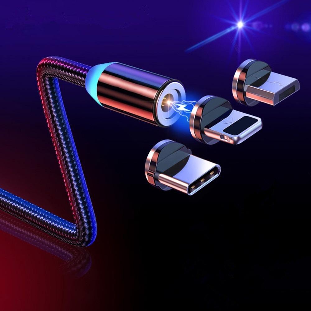 Cable Micro USB magnético de 1M y 2M para IPhone, Samsung y...