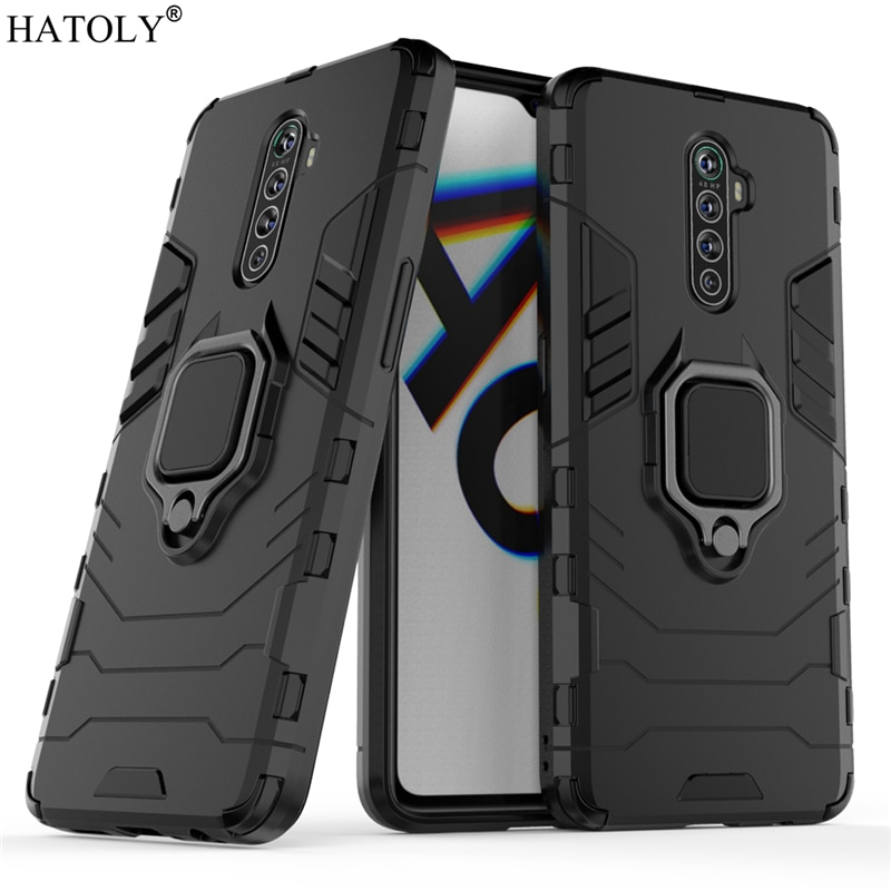 For OPPO Reno ACE Case Cover For Reno ACE Protective Case Finger Ring Armor Back Shell Coque Hard Ph