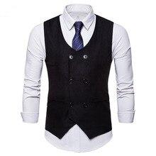 Chaleco de ante negro con doble botonadura Para Hombre chaleco informal de negocios Para Hombre chaleco Formal Vintage Para Hombre Chalecos Para Hombre