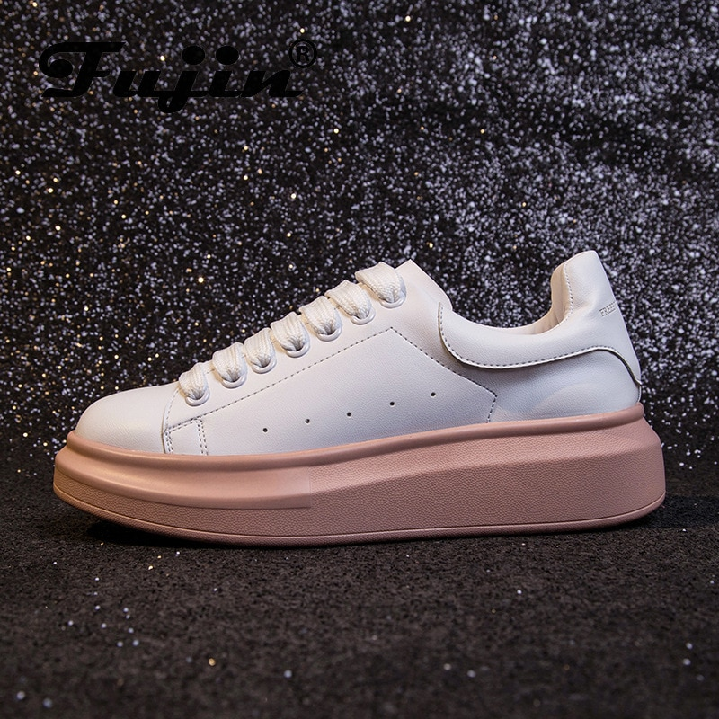 Fujin sapato feminino 2020 novo branco tênis moda feminina respirável plana zapatos de mujer plataforma senhoras casuais tênis mocassins
