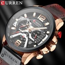 CURREN Mens Watches 2020 New Luxury Leather Watch For Men Waterproof Quartz Clock Male Brand Sport C