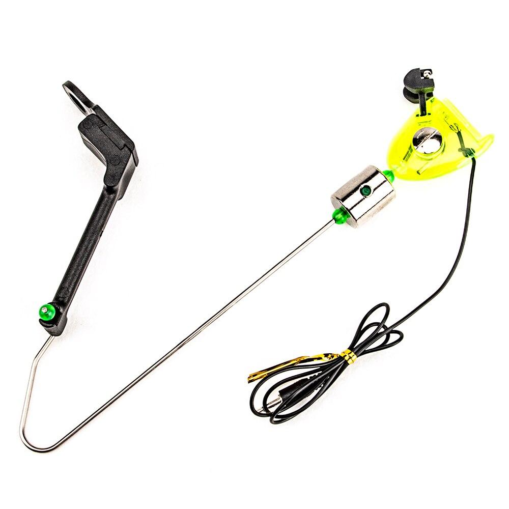 Gancho de alarma de pesca con indicador LED, herramienta de aparejos de pesca para exteriores, receptor de señal de oscilación, accesorios de pesca