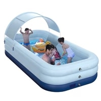 family big swim pools no pump required wireless swimming with sun shade lounge protect backyard toys