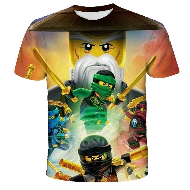 3D Boys T-shirts Summer Kids Ninjago T Shirts Cartoon anime fashion Boy Girl tshirt Costume Boy Clothes Children Clothing 4T-14T