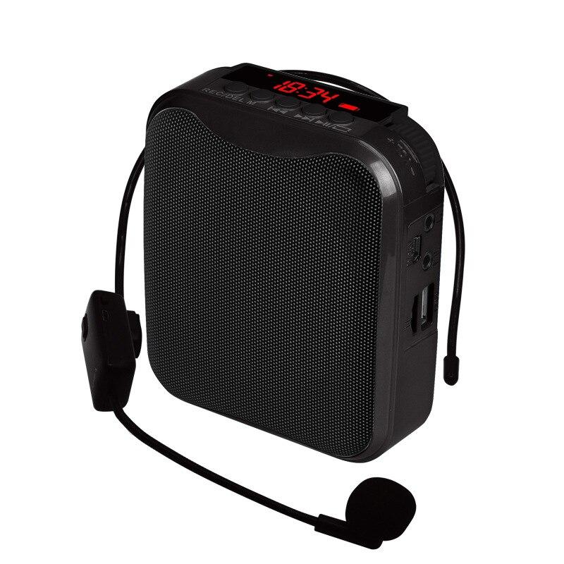 10 w amplificador de voz com microfone com fio voz original para o ensino palestra guia turístico rádio fm tf cartão megafone alto-falante