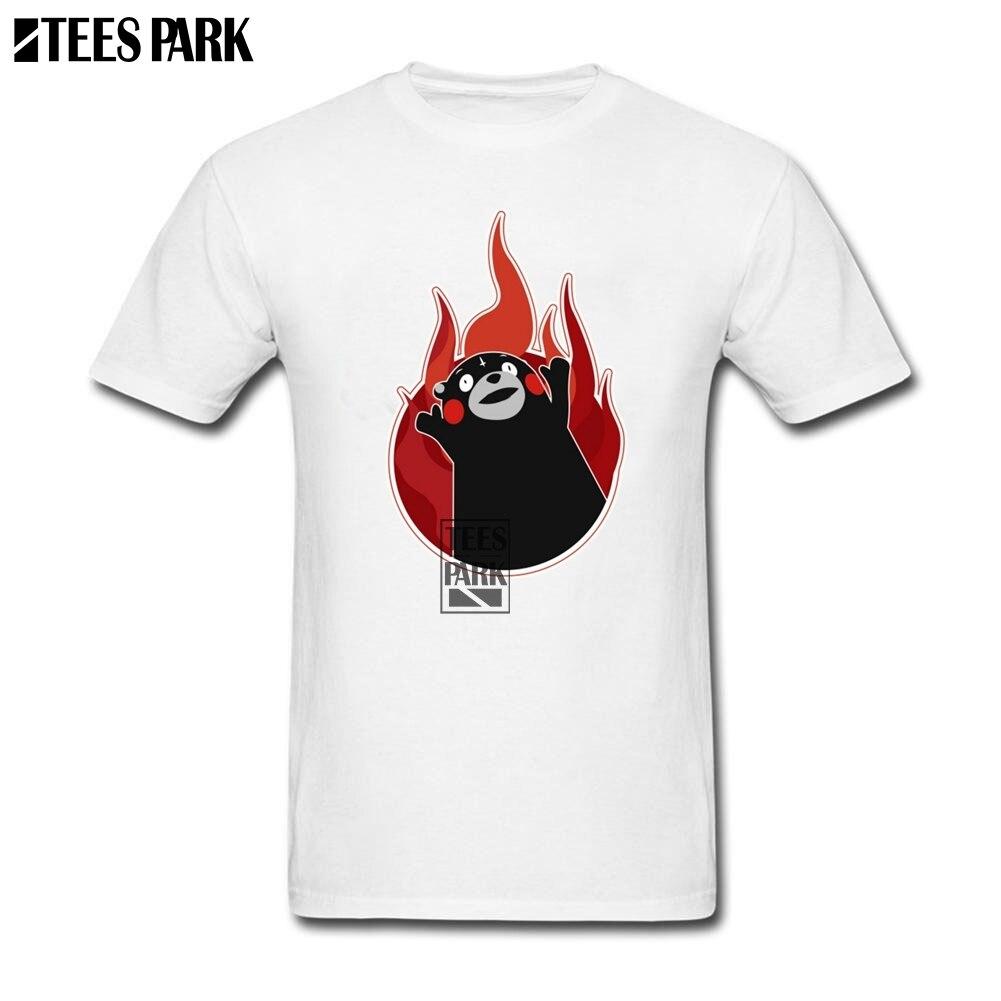 Roupas T camisa Kumamon Para o Elegante Camisetas Gola Redonda Masculino Roupas de Manga Curta Homem Baixo Preço Fiyat Camisetas