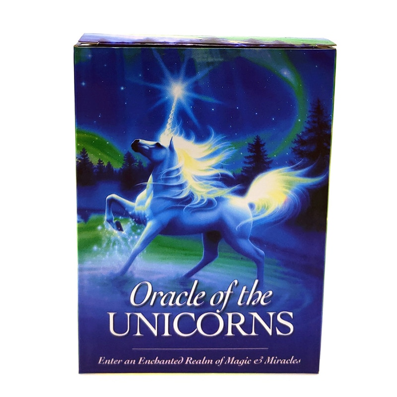 2020 New Full English unicorn oracle cards deck mysterious tarot cards guidance -divination fate board game P003 недорого