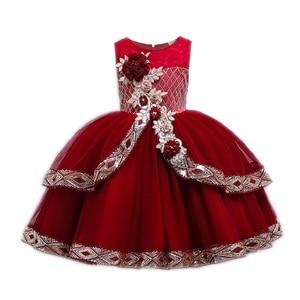 Платье для девочки с цветочным принтом, платья для первого причастия для девочек, элегантные рождественские Бальные платья без рукавов с бл...