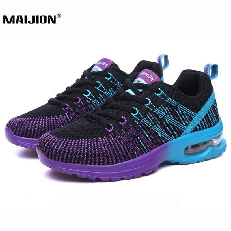 MAIJION zapatillas Air Cushion para mujer, zapatillas para correr coloridas, zapatillas deportivas de malla transpirable, cómodas zapatillas para correr