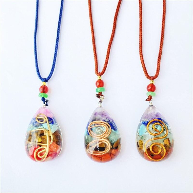 Модное ожерелье из драгоценного камня Ogan для женщин и мужчин, ожерелье с подвеской из искусственного камня для медитации, семейные подарки, ...