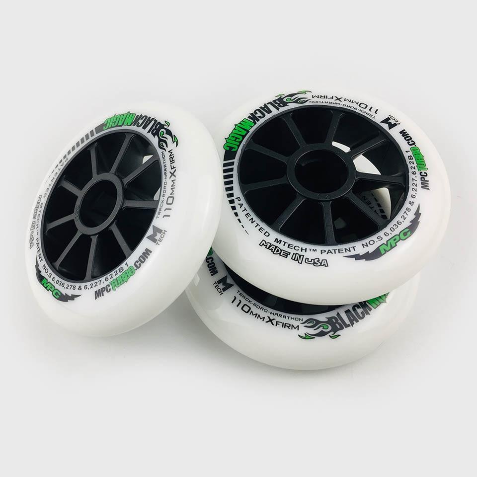 6 Pcs MPC magia negra ruedas SRC XXFirm XFirm firme de 110/100/90mm maratón neumáticos de carreras en línea velocidad patines camino patinaje A094