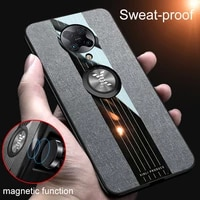 luxury phone case for xiaomi redmi k40 pro k30s ultra k30 k30i anti fall cloth pattern armor with magnetic ring bracket cover
