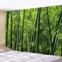 bamboo forest tapestry wall hanging natural scenery tree dreamcatcher tapestries background art wall decoration carpet ceiling