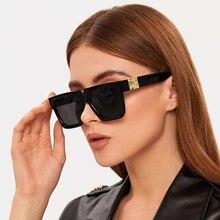 Unisex Fashion Ladies Square Sunglasses Women Goggle Shades Vintage Brand Designer Oversized Sun Gla