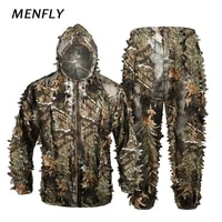 menfly sniper camouflage hunting suit bird watching photography clothes garnished stealth woodland bionic hunter ghillie suits