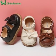 11.5-15.5cm Brand 0-3Years Infant Girls Autumn Shoes,Solid Pure Bowtie-knot Kids Womon PU Leather So