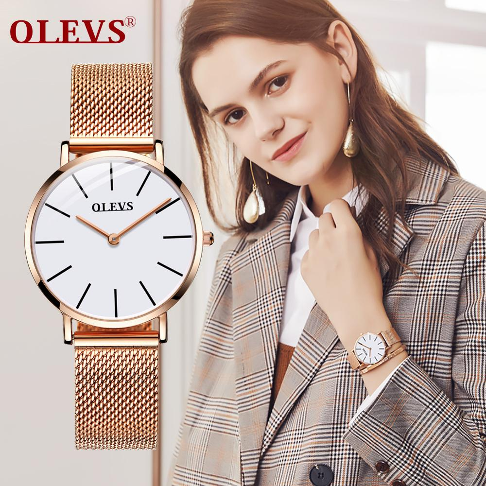 Relojes ultrafinos para mujer, reloj de cuarzo resistente al agua, reloj de pulsera de acero inoxidable con fecha, reloj Calendario, reloj Masculino