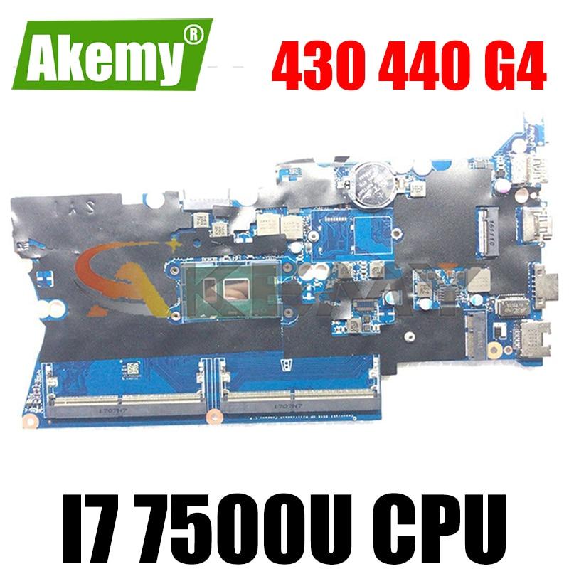 Akemy DA0X81MB6E0 905797-601 905797-001 For HP ProBook 430 440 G4 حاسوب محمول اللوحة I7 7500U DDR4 اختبار Ok سريع الشحن