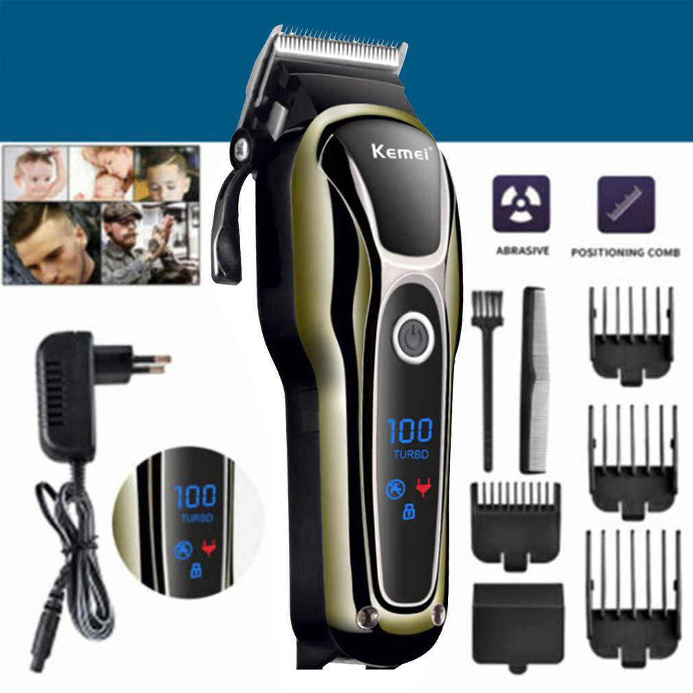 Professional Men Electric LCD Hair Clipper  Grooming Clippers Professional Trimmer Haircut Machine Barber Shaver enlarge