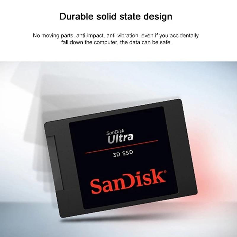 Sandisk HDD ULTRA 3D 560MBS 250GB 500GB 1TB 2TB Internal Solid State Disk Hard Drive SATA 3.0 (6 Gb/s) for Laptop Desktop enlarge
