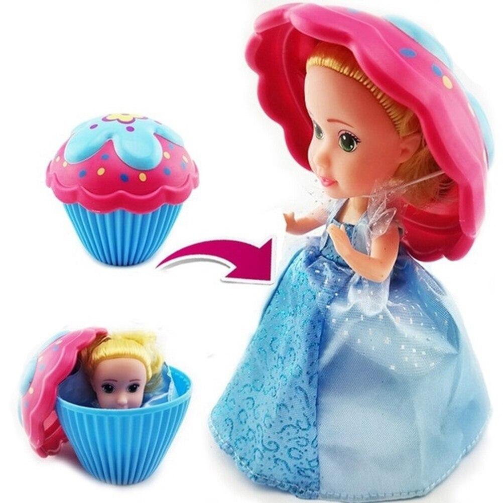 Tasse gâteau poupée jeu maison enfants jouer maison jouet gâteau Mini Surprise poupée déformable pâtisserie princesse douce fille cadeau danniversaire