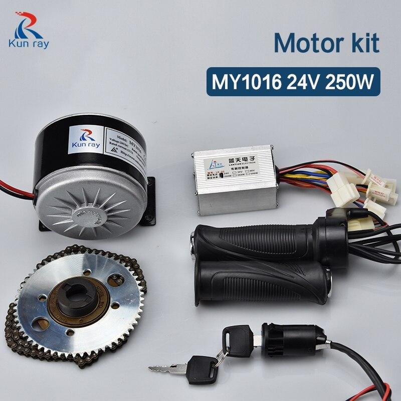 Kit de Motor cepillado para Bicicleta eléctrica, 250W, 24V de CC, controlador...