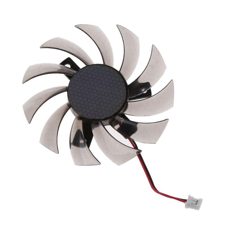 75MM PLD08010S12H 2Pin ventilador de enfriamiento de la tarjeta gráfica para 6850 de Gigabyte 7970 GTX 460 GTX560Ti R270X R7 260x de C26