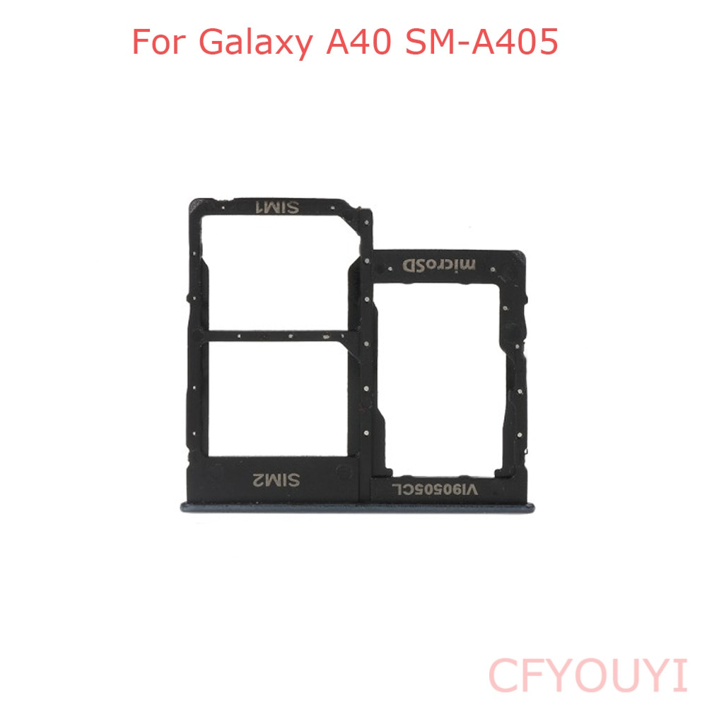 Black Color For Samsung Galaxy A40 A405 Dual SIM Card Tray Holder Replace Part