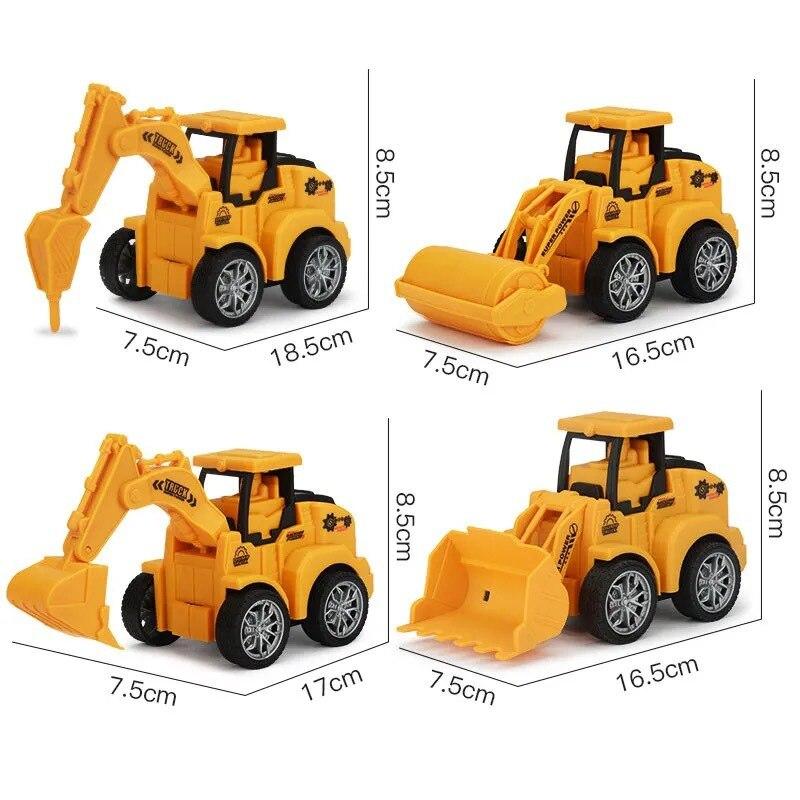 Детский игрушечный автомобиль, инженерный автомобиль, экскаватор, детский автомобиль, игрушечный автомобиль