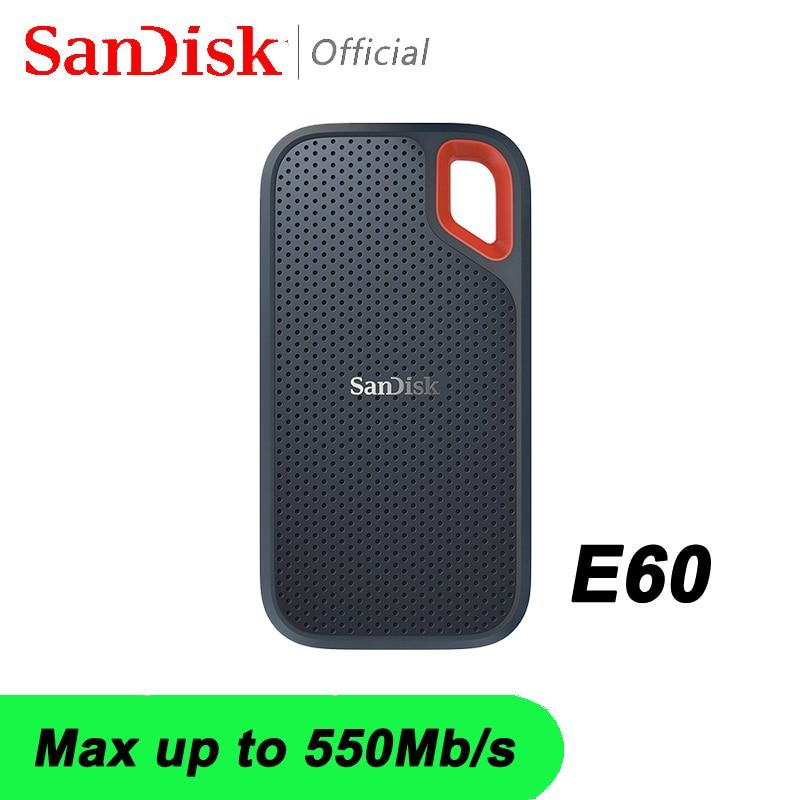 SanDisk Portable External SSD USB Type C 500GB External Hard Drive 1TB External Ssd 2tb Pen Drive 500M/S Laptop Desktop For PC