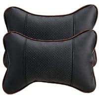 2 pcs ergonomic bone auto seat head neck rest cushions headrests car pillows elastic band fixed durable soft comfortable for car
