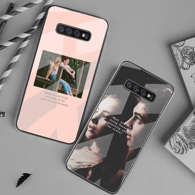 After Movie-funda de teléfono con cristal templado para Samsung, protector de móvil...