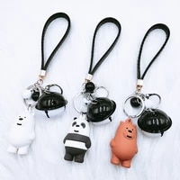 creative new epoxy pvc doll keychain men and women couple car bag pendants our little door bear tide ornaments haikyuu keychain