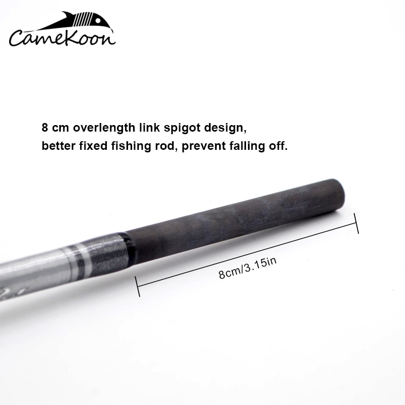 CAMEKOON 2 Pieces Slow Jigging Fishing Rod 1.83/1.91/1.93M Carbon Fiber Fuji Guides and Seat Saltwater Casting Spinning Fish Rod enlarge