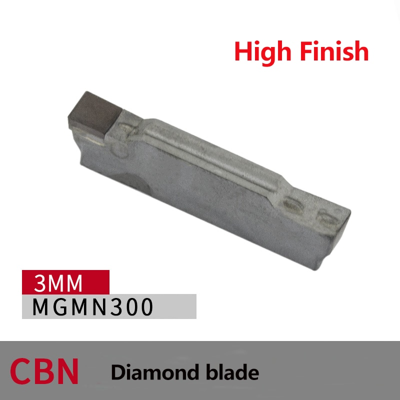 PCD CBN Insert MGMN150 MGMN200 MGMN250 MGMN300 MGMN400 MGMN500 herramienta de corte de torno de diamante hoja de ranurado CNC