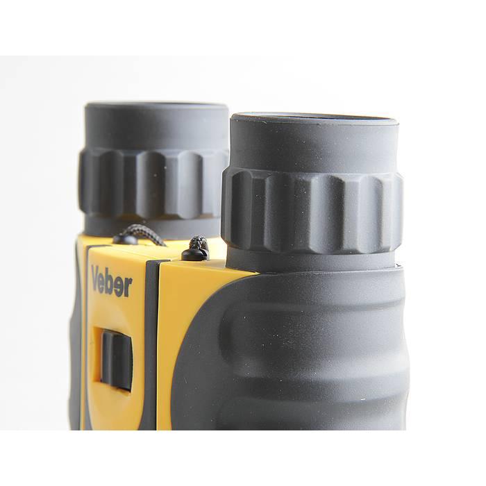 Jumelles Veber 8x25 WP, jaune-noir