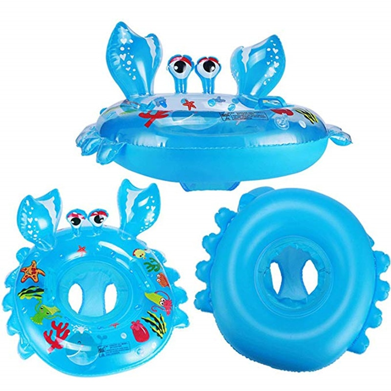 Baby Floating Swimming Ring Newborn Kid's Thickened Crab Inflatable Infant Swim Lifebuoy Float Swimming Pool Beach Accessories