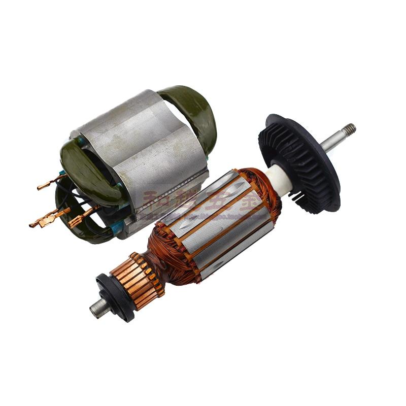 220V AC/240 V armadura del Rotor del reemplazo del estator para BOSCH GWS8 GWS 8-125 GWS8-125C GWS 850 piezas de lijadora angular