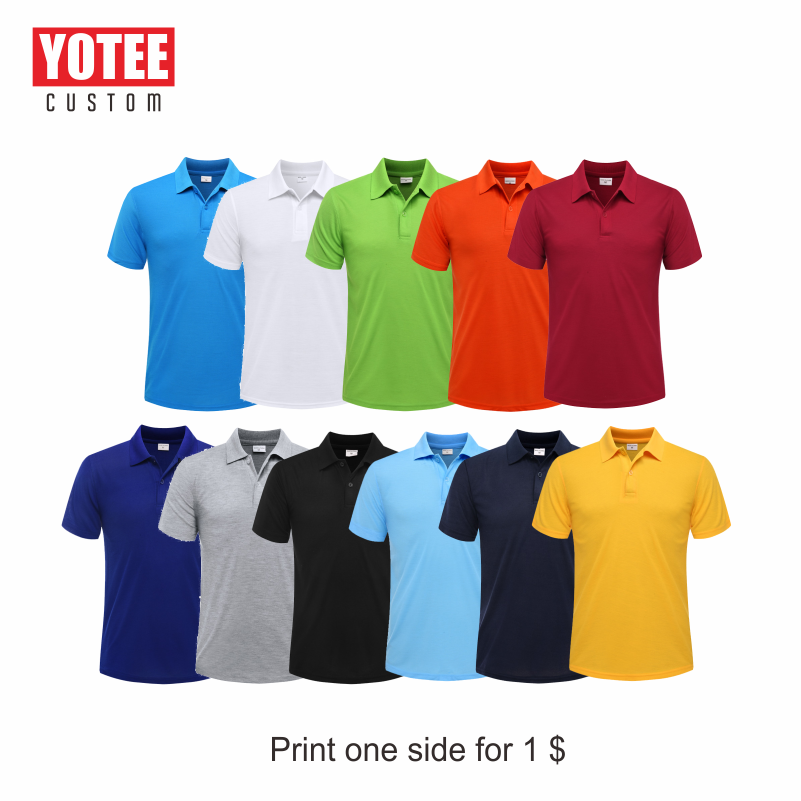 YOTEE 2020 summer cheap casual short-sleeved polo suit personal company group LOGO custom POLO shirt