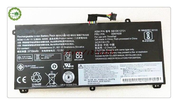 GYIYGY 11,4 V 3.86Ah 44Wh 00NY639 SB10K12721 batería para portátil Thinkpad T550 T560 W550S P50S 45N1741 45N1743