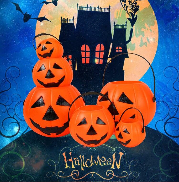 Halloween decorações fantasma festival abóbora lanterna festa bar crianças fantasiar-se abóbora balde abóbora