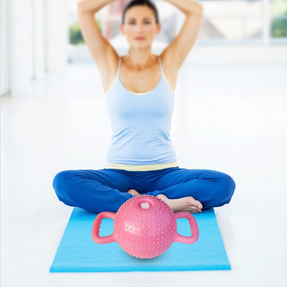 Yoga Fitness tetera campana 4-12 lb ajustable Kettlebell masaje agua mancuerna doble asas Pilates gimnasio Fitness modelado del cuerpo