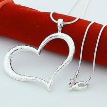 Nouvelle mode 925 en argent Sterling grand amour coeur pendentif collier pour les femmes argent 925 bijoux collier