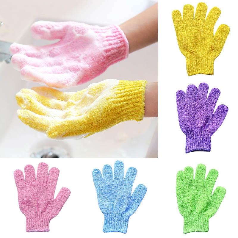 Bath Towel Gloves Body Showers For Bathroom Exfoliating Wash Useful Bath Skid Resistance Cleaning Ba